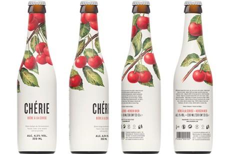 比利时 Chérie 樱桃味小麦发酵啤酒包装设计