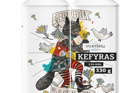 立陶宛Kefir开菲尔酸奶包装设计