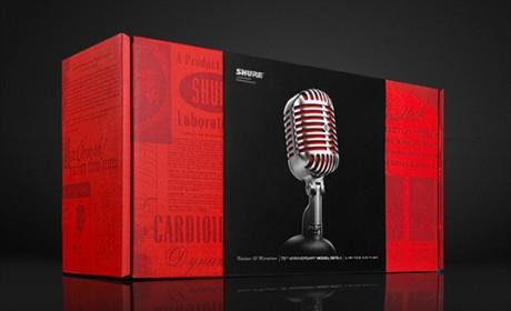 美国SHURE舒尔麦克风红色限量版包装设计