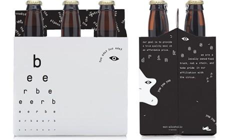 快餐车比萨啤酒包装Sydney Goldstein学生作品
