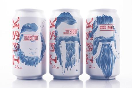 Tusk精酿啤酒,硬汉诉求包装设计
