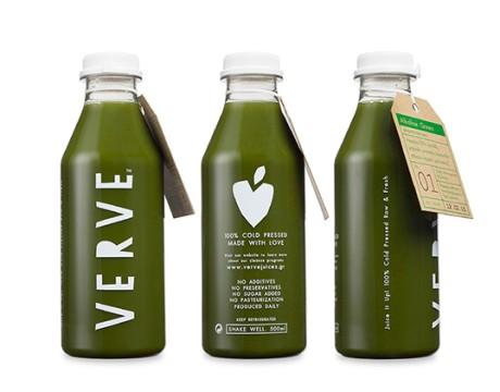 希腊新鲜冷榨果汁品牌Verve包装设计