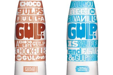 Gulp品牌奶昔包装设计作品欣赏