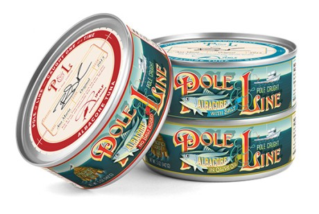 Pole & Line 金枪鱼罐头包装