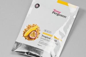 Tony Ferguson不同口味的代餐食品系列包装设计