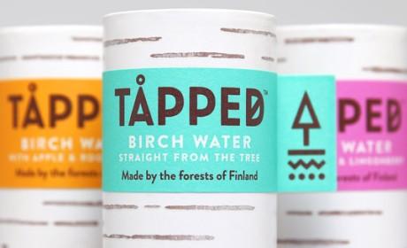 英国TÅPPED有机桦木水饮料包装设计