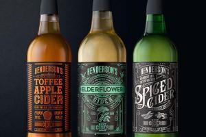 一款复古的苹果酒包装设计Henderson's