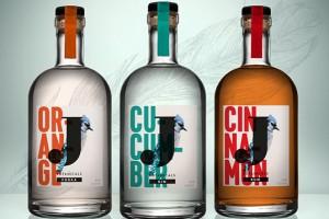 Jays Distillery蓝鸟酒厂酒包装设计