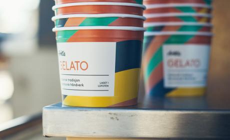 挪威五彩斑斓的Arktis冰激凌包装设计