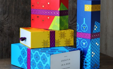 Croatia in a Box旅游美食组合礼品包装设计。