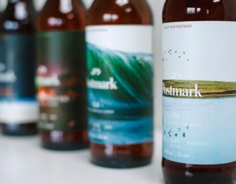 Postmark酿造厂啤酒包装设计。