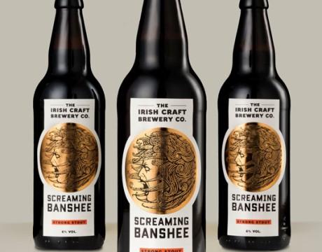 爱尔兰Screaming Banshee精酿啤酒包装设计