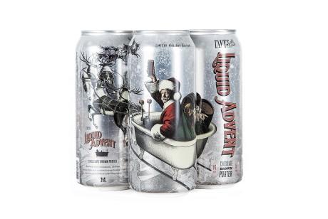 一款有意思的圣诞插画liquid advent啤酒包装设计