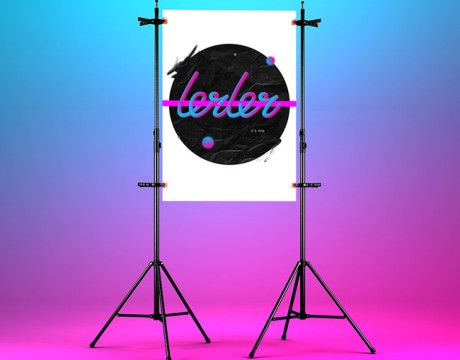 广告海报设计需要注意的问题,一起来看看波兰Valeria霓虹灯字体海报设计案例