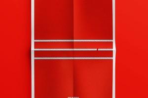 宣传海报设计中的色彩运用,看看这款印度Vinay极简海报设计作品