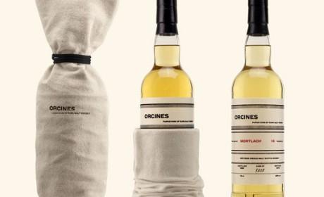 市场上第一款棉布酒标威士忌包装设计
