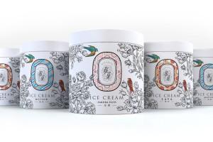 极燕燕窝冰淇淋包装设计丨奢侈是细节不经意间的优雅