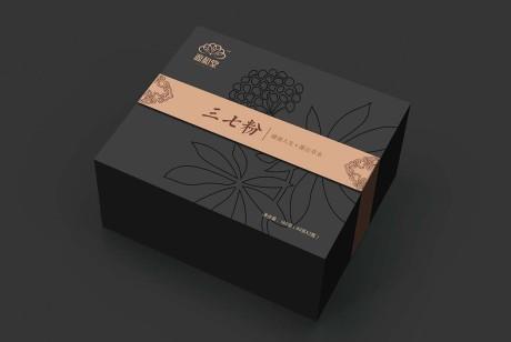 源和堂药业三七粉包装设计丨简约精致,药食同源的典范。