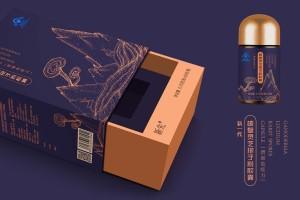 新先灵芝孢子粉胶囊包装设计丨蕴含天然健康品的 内在灵魂。