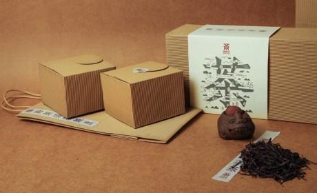 聚德坊普洱茶品牌形象及晒红茶瓦楞纸包装设计