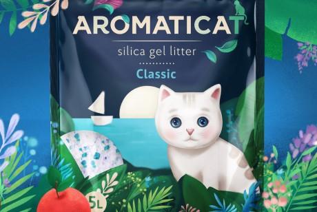 专门在中国开发的 AROMATICAT 品牌猫砂,解放铲屎官