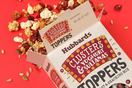 HUBBARDS TOPPERS 哈贝斯什锦麦片包装设计