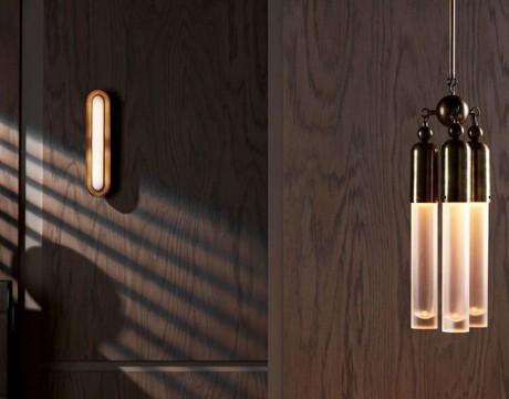 Apparatu展出的两款复古黄铜吊灯