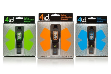 4id安全识别手环智能手环包装设计
