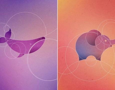 设计师Dorota Pankowska只用圆圈画出13个动物图案