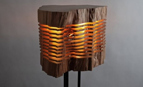 艺术般的极简木雕灯具 让自然点亮生活