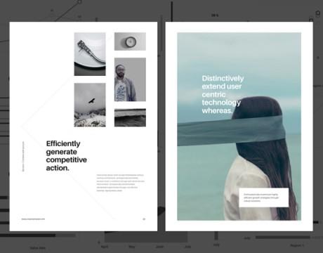 25款极简风格画册设计