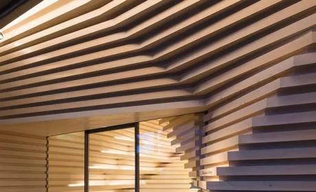 隈研吾在台北设计的新画廊巧妙,木头产生了渐变的效果