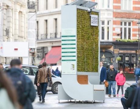 """英国街头出现 City Tree,一把可以净化空气的""""椅子"""""""