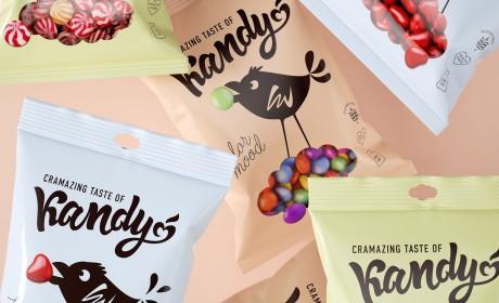 坐在糖果云上啄食的小鸟:Birdie Kandy糖果包装设计