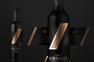 精致的SINTAGMA葡萄酒瓶贴设计欣赏