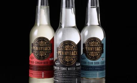 精致的Pennyback酒水瓶贴设计欣赏