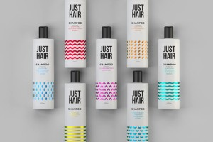 简约时尚的Just Hair洗发水包装设计