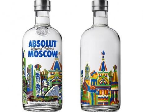 俄罗斯ABSOLUT Moscow伏特加包装设计