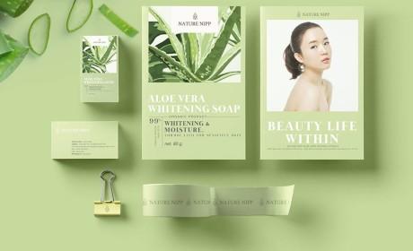 自然芦荟肥皂包装设计