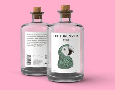 鹦鹉元素插画酒包装设计