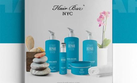 头发护理产品画册设计Hair Care NYC