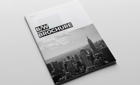 干净的Brochure黑白企业画册设计模板