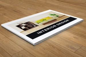 小巧型的横版室内设计画册模版案例