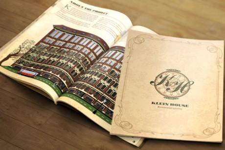 Klein House地产项目复古画册设计欣赏