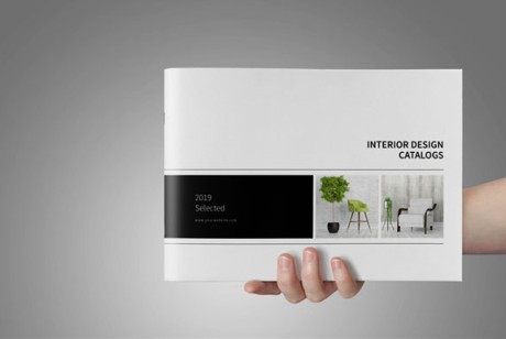 简约大方的黑白系室内设计画册模版分享