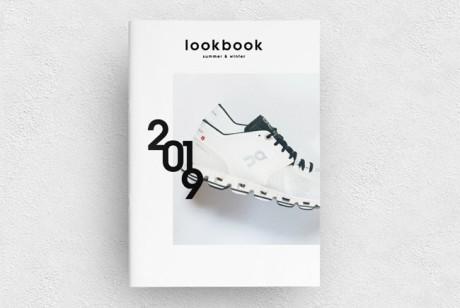 清爽简约的鞋品牌画册模版设计案例