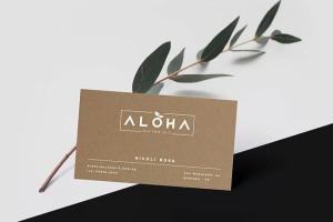 餐厅品牌形象设计Aloha健康美食丨企业vi设计公司奉行的设计理念