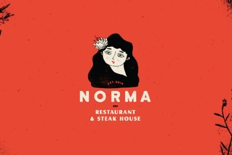 古典餐饮品牌形象设计(Norma餐厅)餐饮vi设计怎样更好的运用色彩元素