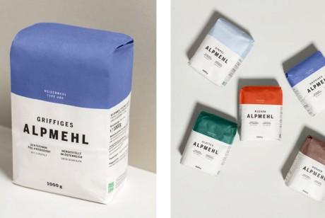 国外极简主义面粉包装设计