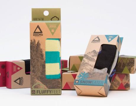 运动袜子包装设计